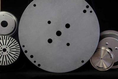 CNC metal spun parts with CNC turret punched holes
