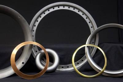 Metal spun rings in a range of materials we can work with: steel, aluminum, brass, copper and galvanized